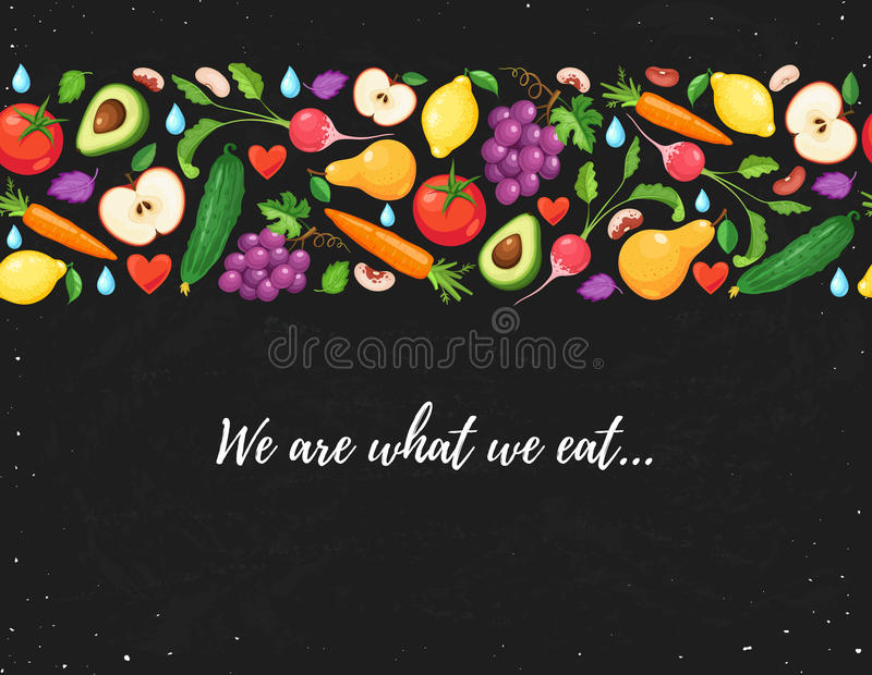 Cartaz saudável comer ilustração do vetor