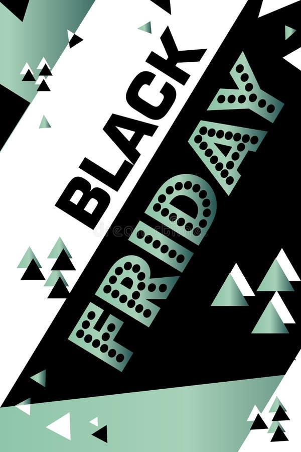 Cartaz sexta-feira preta de compra inseto moderno na moda do dia do desconto folheto para anunciar ilustração do vetor