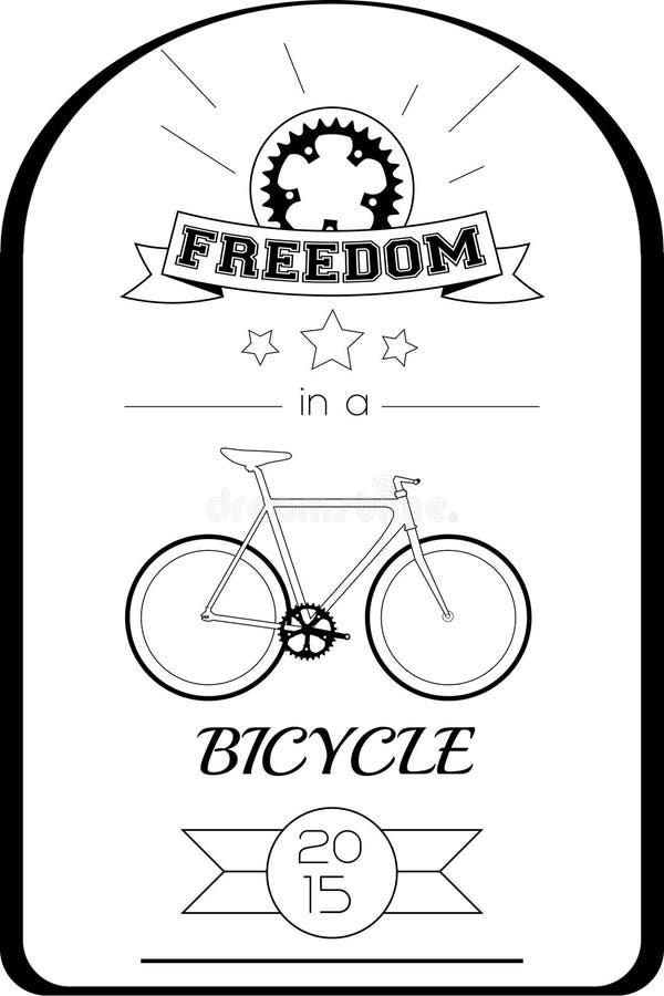 Cartaz tipográfico da bicicleta imagem de stock royalty free
