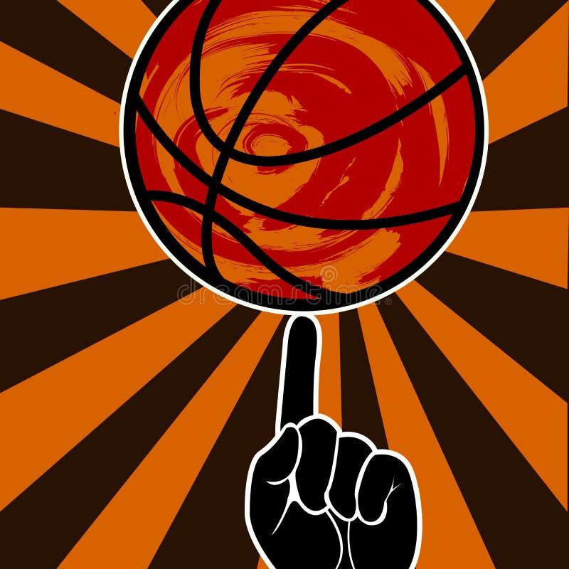 Cartaz tipográfico do estilo do grunge do vintage do basquetebol ilustração stock