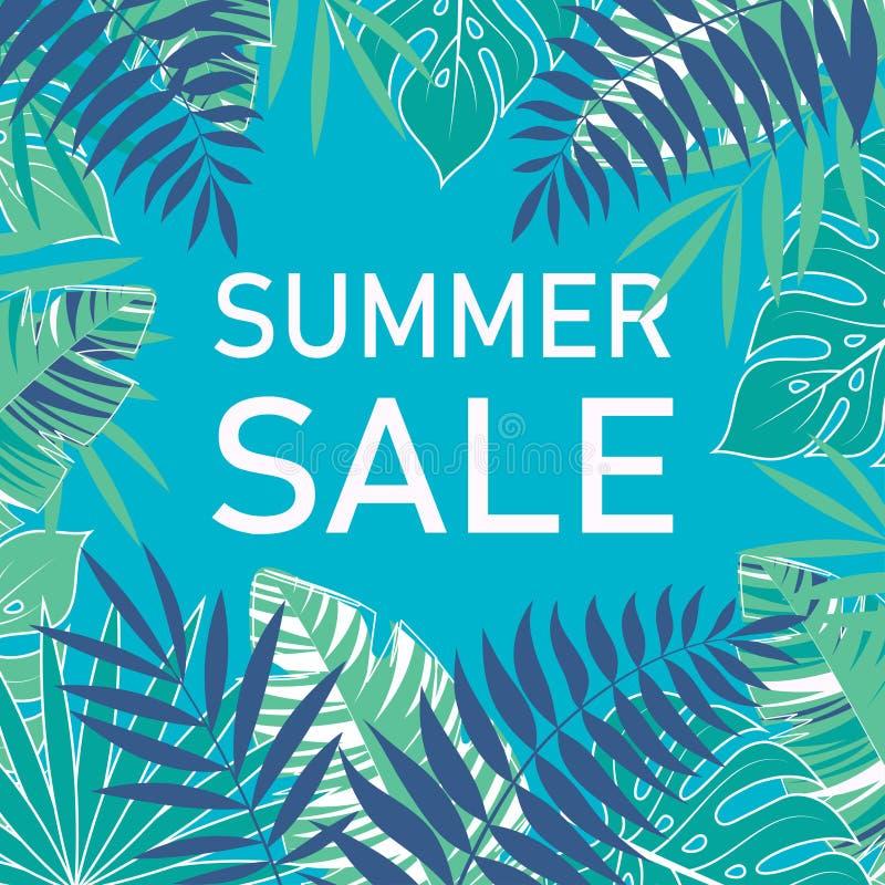Cartaz tropical da venda do verão ilustração royalty free