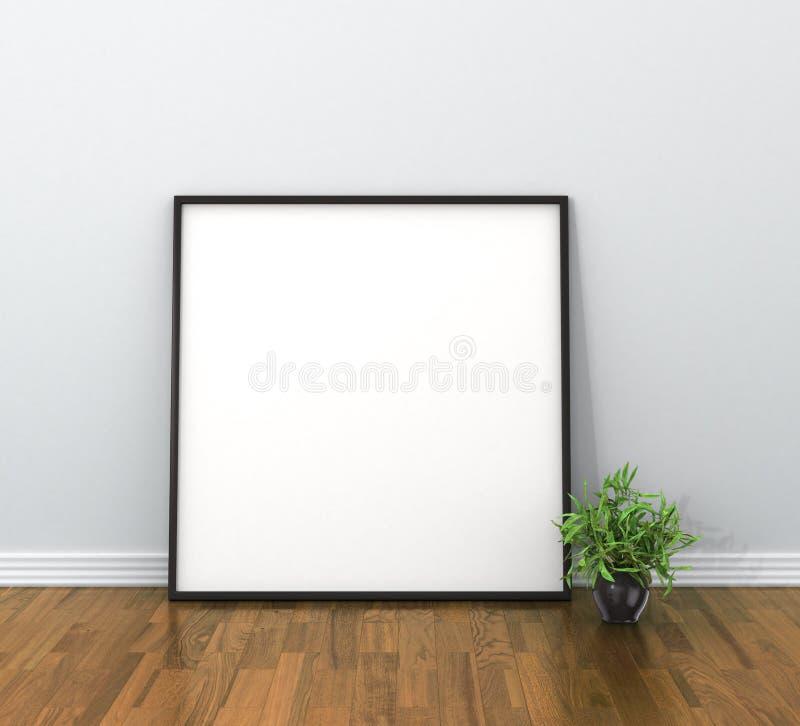 cartaz vazio do modelo no interior ilustração royalty free