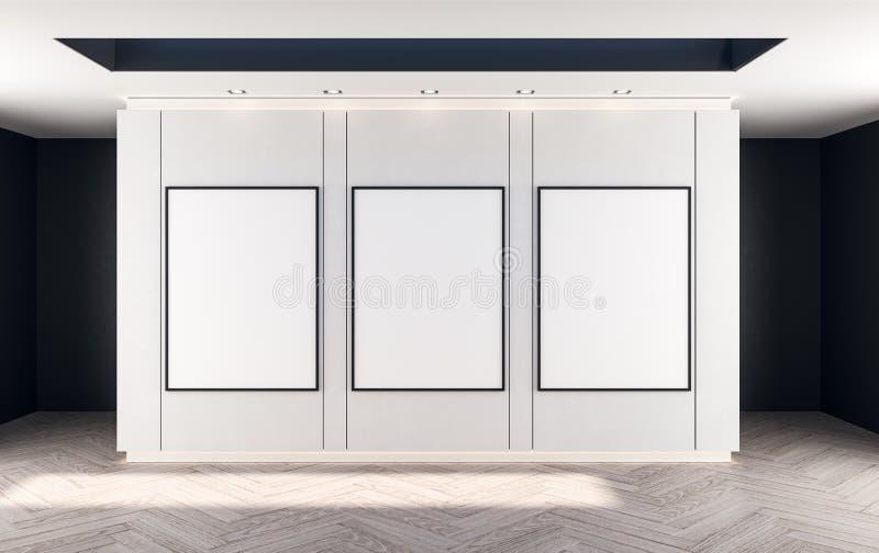 Cartaz vazio no salão abstrato imagem de stock royalty free