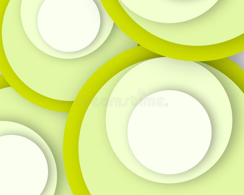 Cartaz verde fresco da imagem do negócio do teste padrão do círculo, qualidade super ilustração do vetor