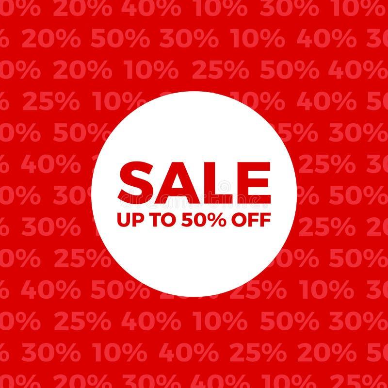 Cartaz vermelho da loja de venda do vetor ilustração do vetor