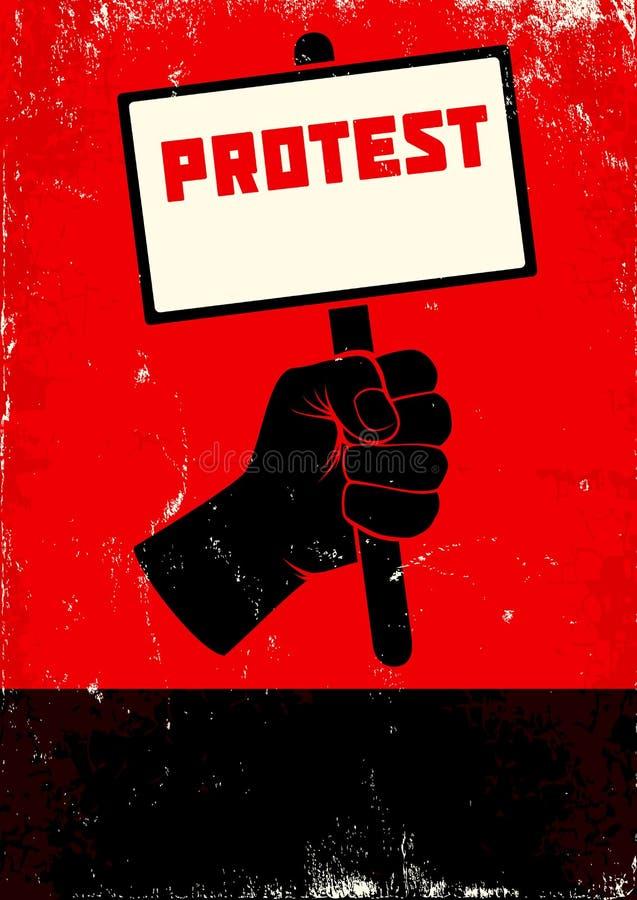 Ilustração do protesto ilustração stock
