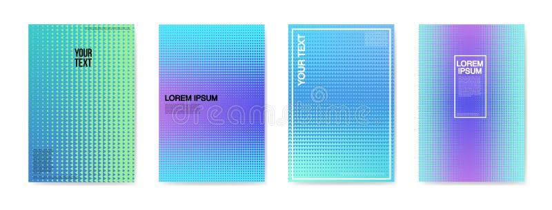 Cartazes criativos abstratos dos cartazes dos cartões ajustados Projeto de intervalo mínimo na moda para bandeiras, tampa do incl ilustração royalty free