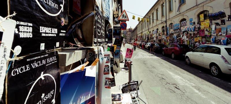Cartazes do festival do teatro de Avignon imagens de stock
