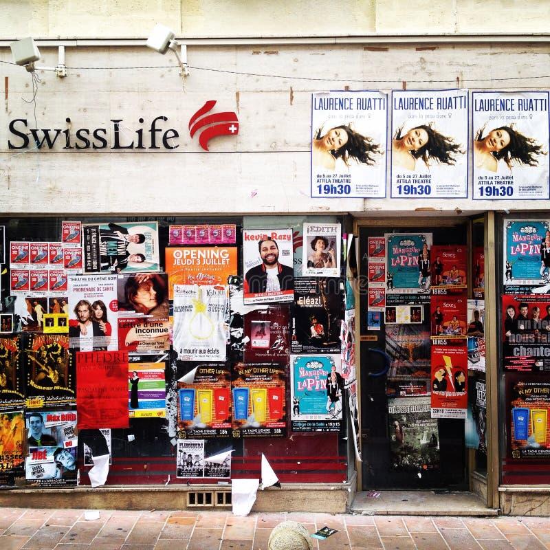 Cartazes do teatro fotografia de stock