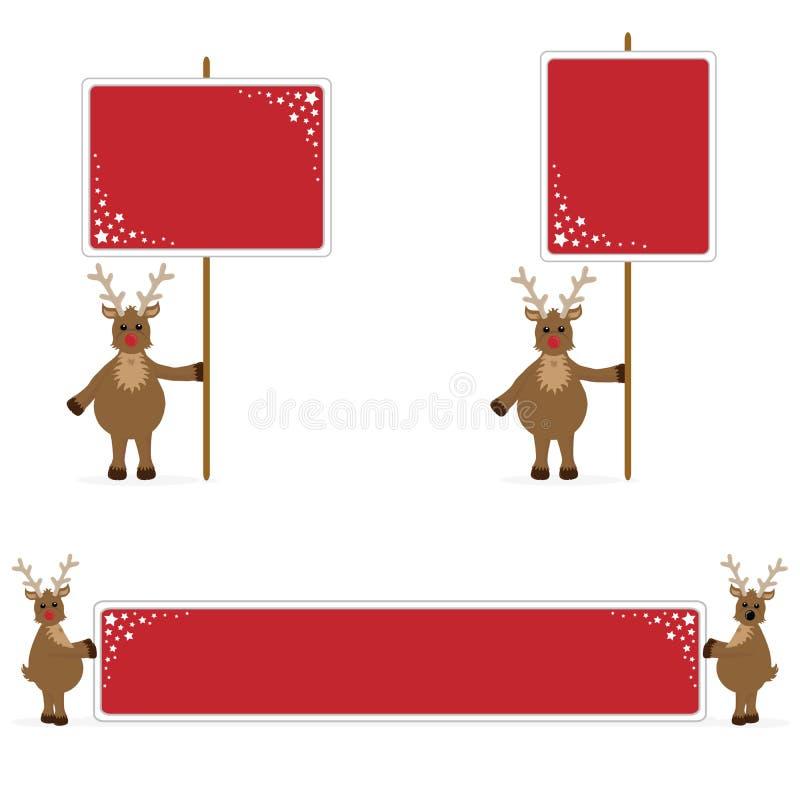 Cartazes e bandeira da terra arrendada de Rudolf imagens de stock royalty free