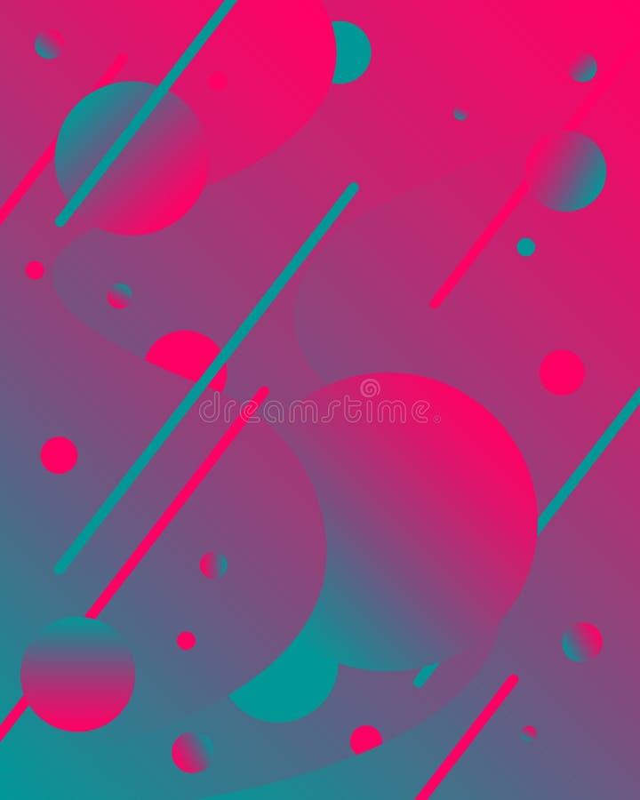 Cartazes futuristas do projeto Fundo líquido da cor O inclinação fluido dá forma à composição ilustração do vetor