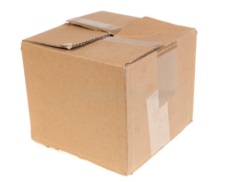 Cartboard powyginany pudełko obraz stock