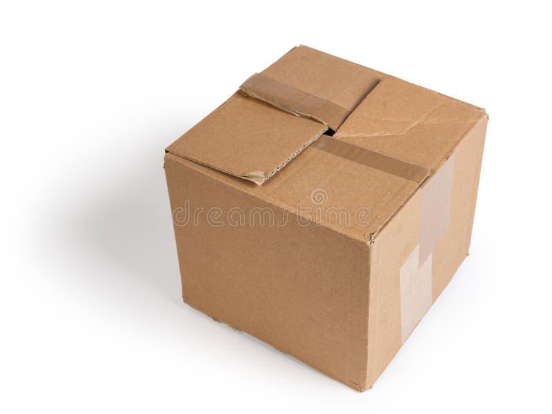 Cartboard powyginany pudełko fotografia stock