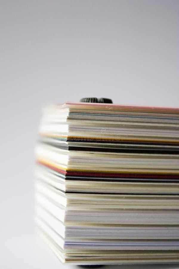 Cartboard stack stock photo