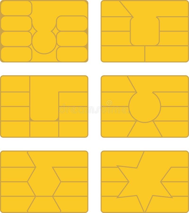 Download Carte à puce illustration de vecteur. Illustration du graphisme - 45358580