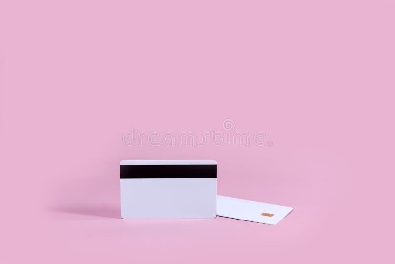 Carte à puce vide de calibre de carte de crédit en blanc photos stock