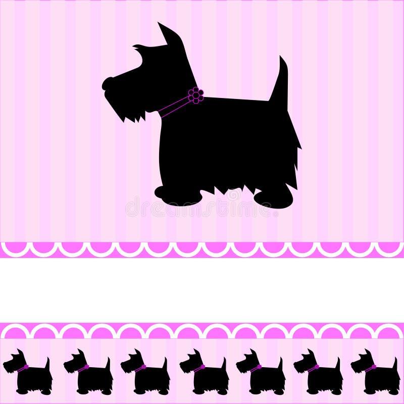 Carte écossaise de crabot de chien terrier illustration stock