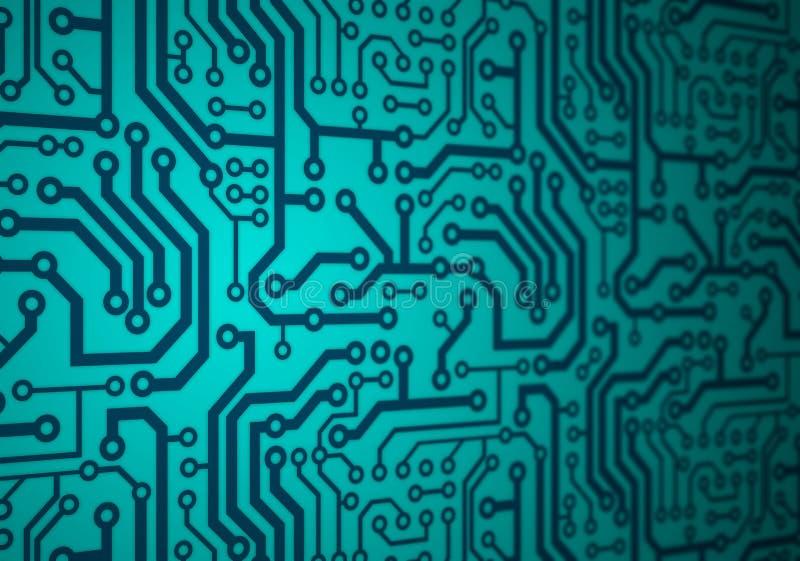 Carte électronique illustration libre de droits