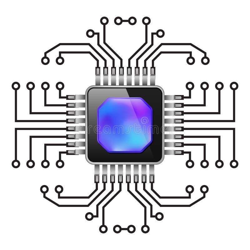 Carte électronique illustration de vecteur
