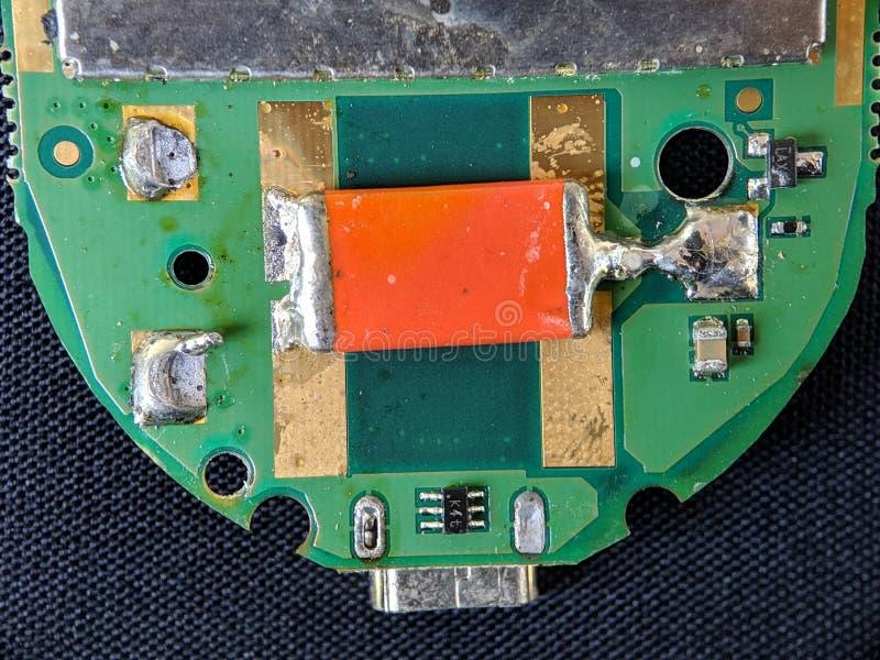 Carte électronique, circuit intégré IC, utilisé pour le papier peint, utilisé comme album photographie stock