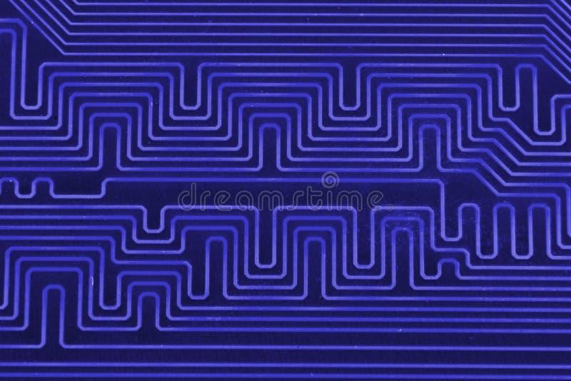 Carte électronique comme modèle abstrait de fond Macro plan rapproché modifié la tonalité photo libre de droits