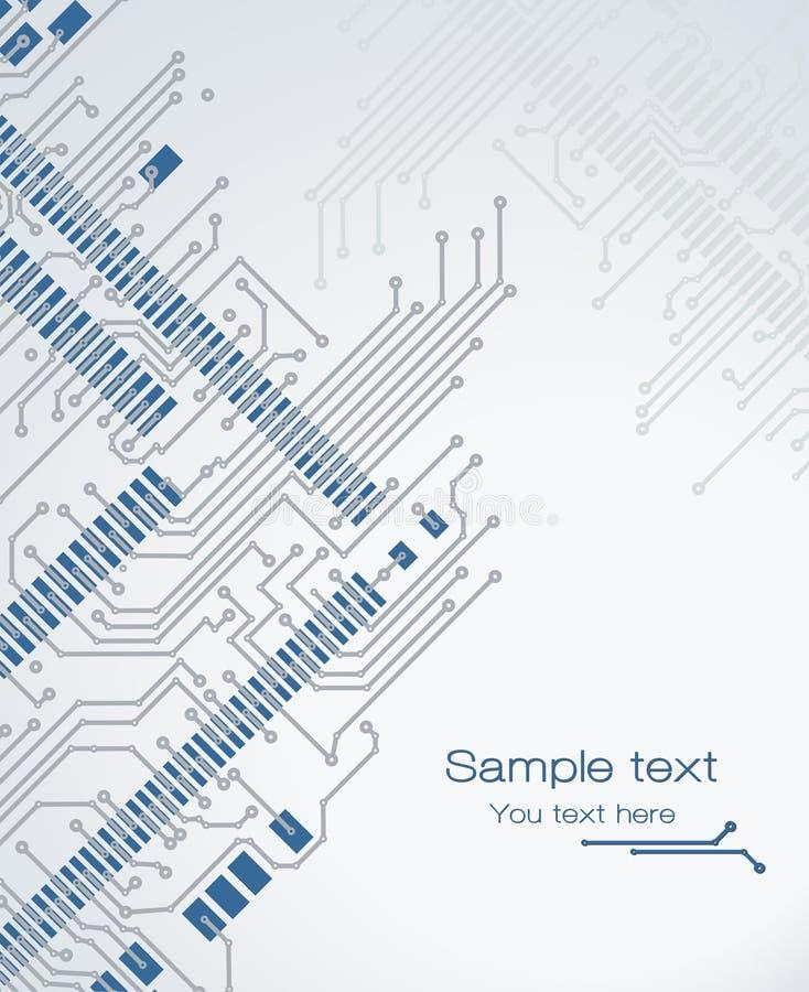 Carte électronique de drapeau illustration de vecteur