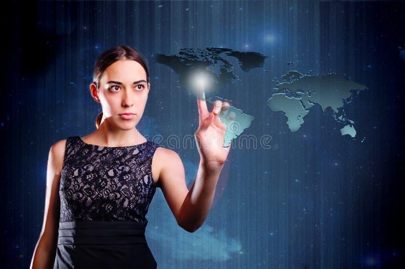 Carte émouvante de femme de la terre photos libres de droits