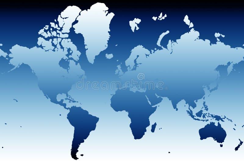 Carte 02 du monde illustration stock
