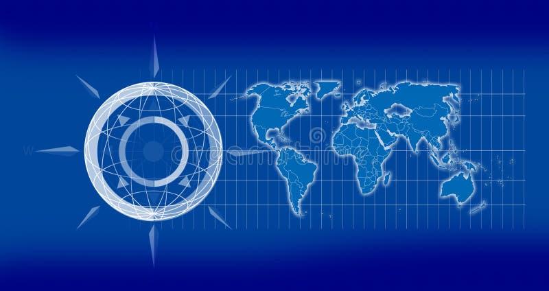 Carte 2D de la terre illustration stock