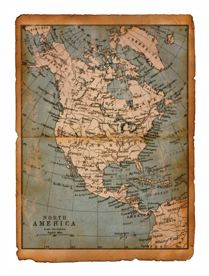 Carte 35 de l'Amérique du Nord image libre de droits