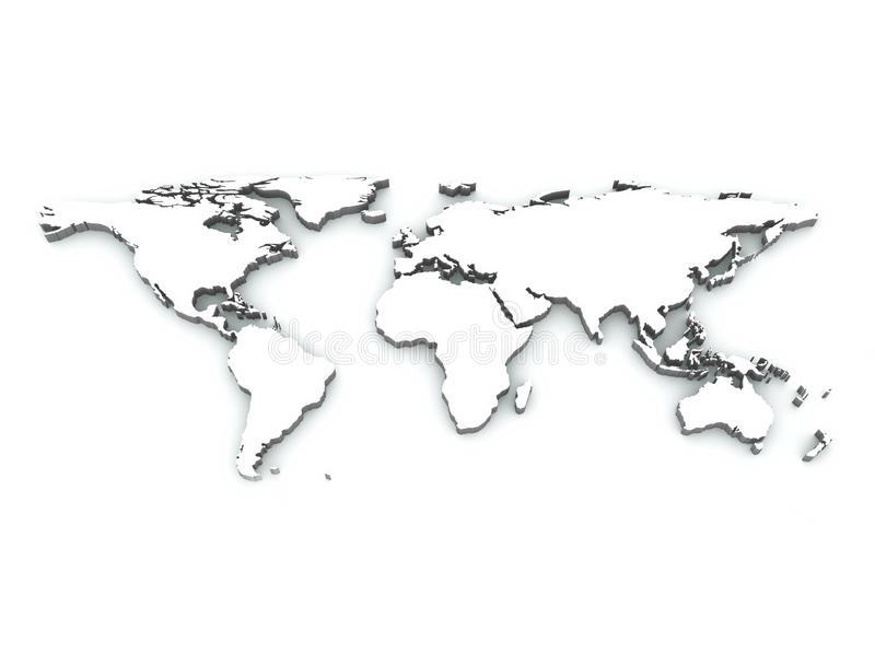 Carte 3D du monde illustration stock