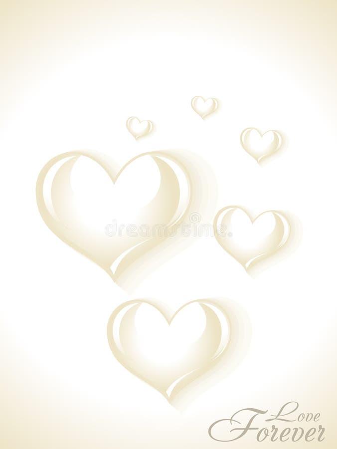Carte abstraite d'amour illustration libre de droits