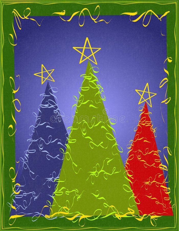 Carte abstraite d'arbres de Noël illustration libre de droits