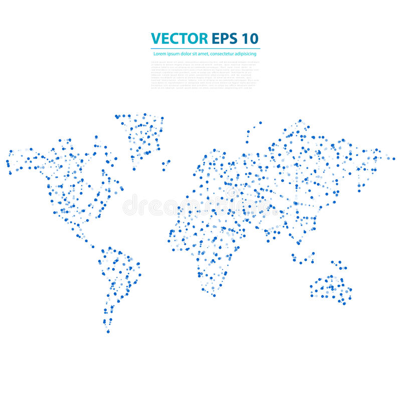 Carte abstraite de la terre de télécommunication de vecteur illustration stock