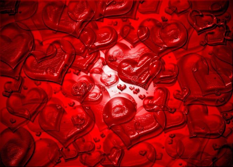 Carte abstraite de valentine photographie stock libre de droits