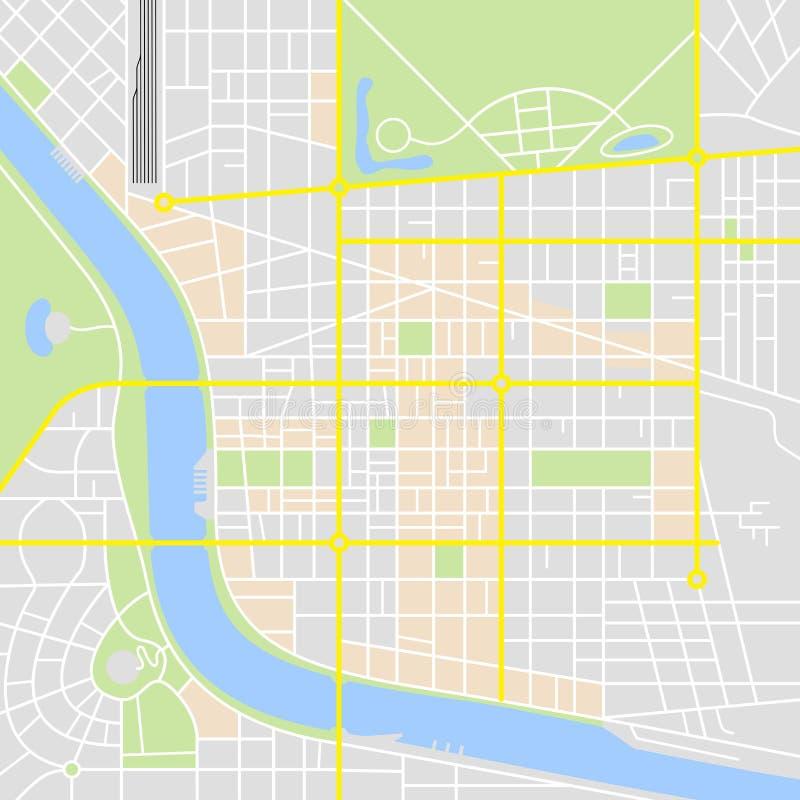 Carte abstraite de ville illustration de vecteur