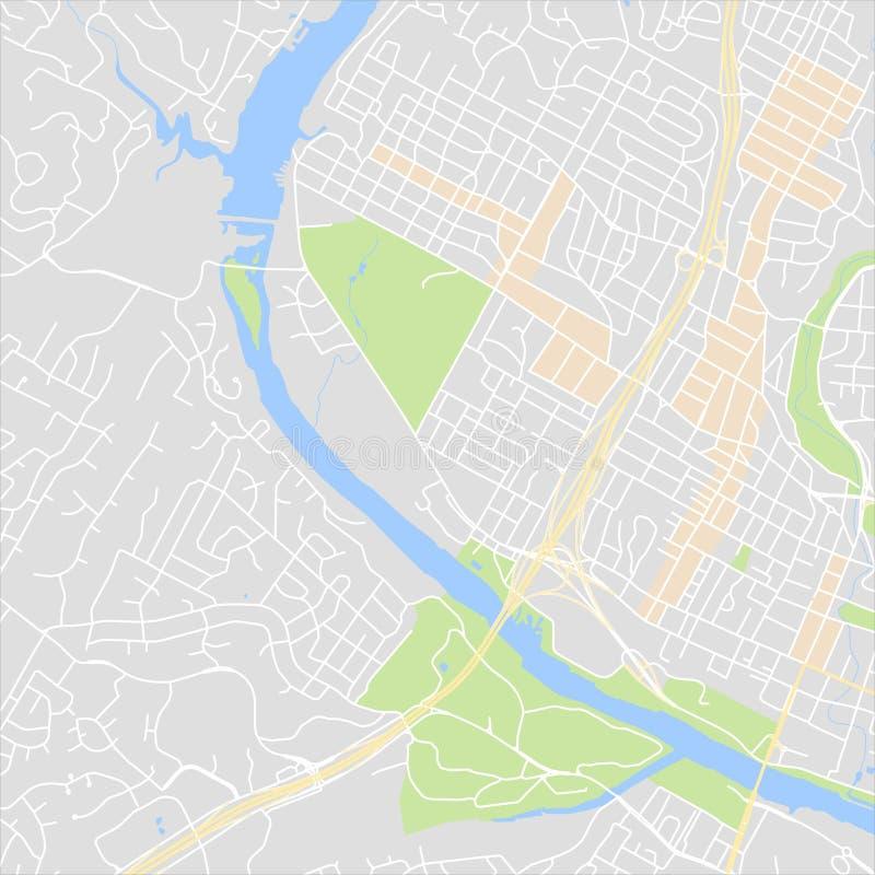 Carte abstraite de ville illustration libre de droits