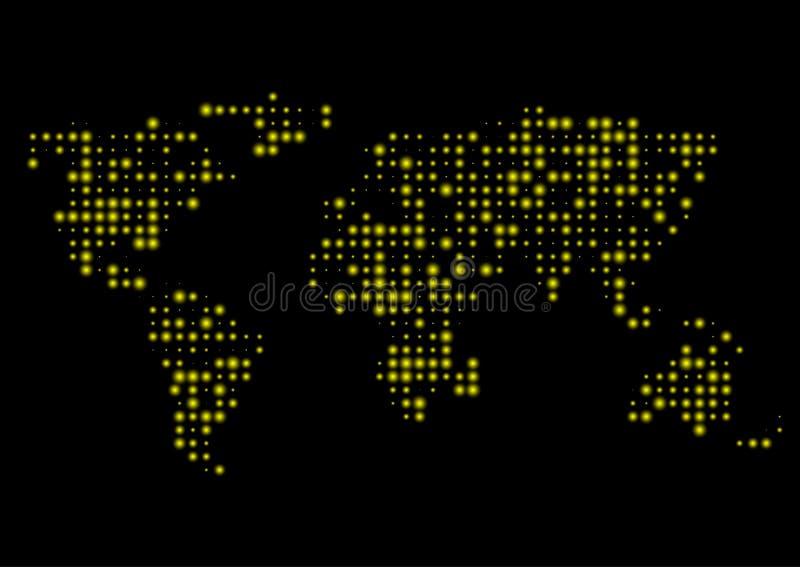 Carte abstraite du monde illustration stock