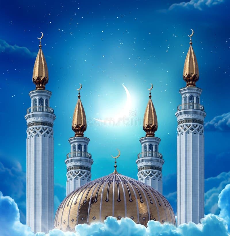 Carte accoglienti islamiche di Eid Mubarak per le feste musulmane Eid-UL-Un immagini stock libere da diritti