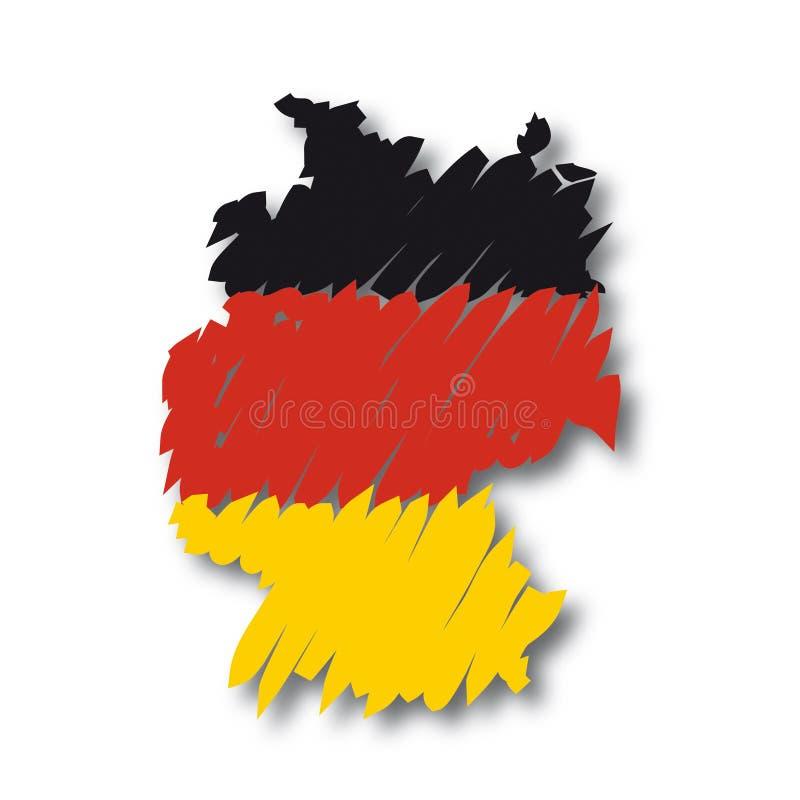 Carte Allemagne de vecteur illustration libre de droits