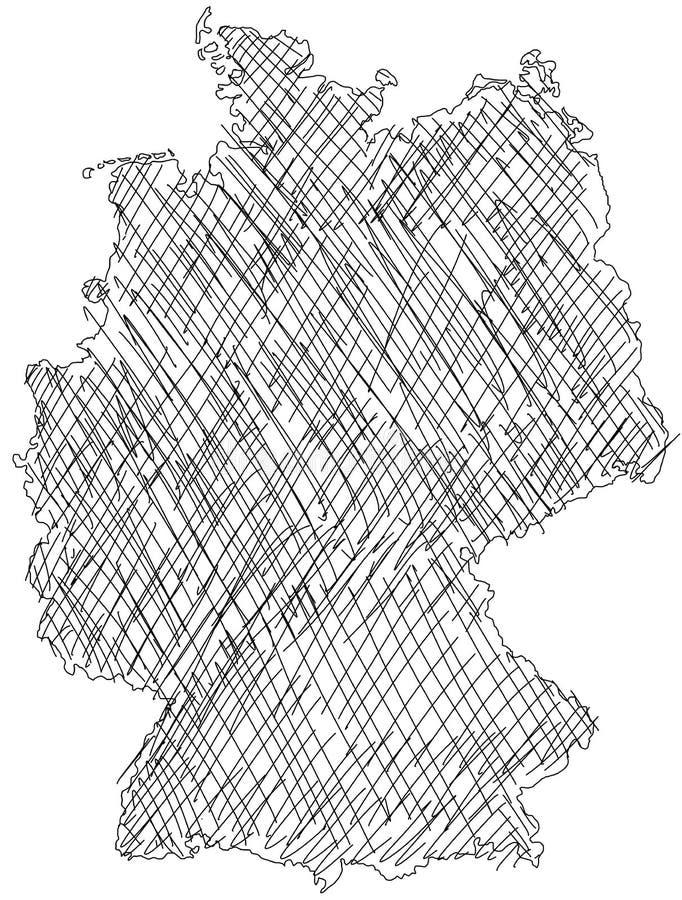 Carte allemande illustration libre de droits