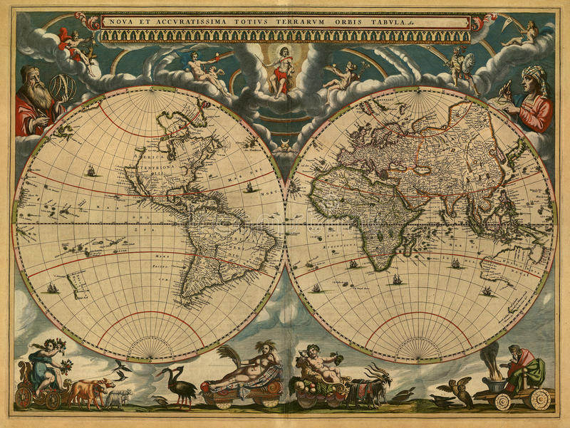 Carte antique image stock