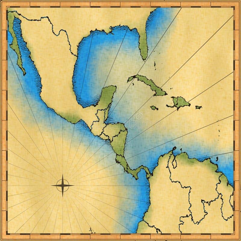 Carte antique illustration libre de droits