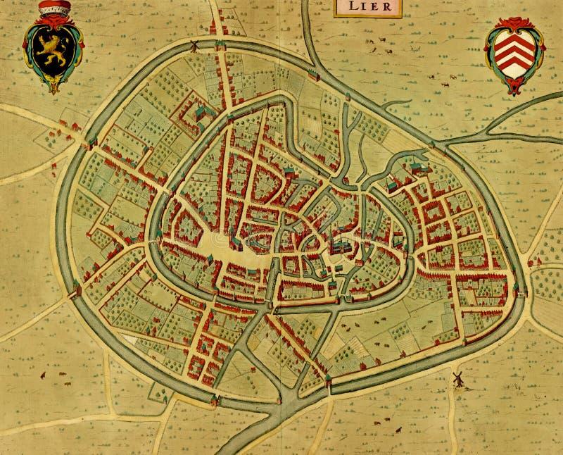 Carte antique d'Utrecht photographie stock libre de droits