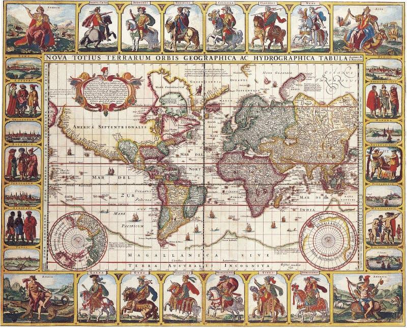 Carte antique de haute qualité illustration stock