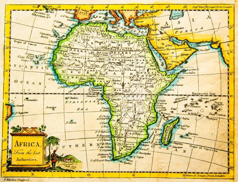 Carte antique de l'Afrique photo stock