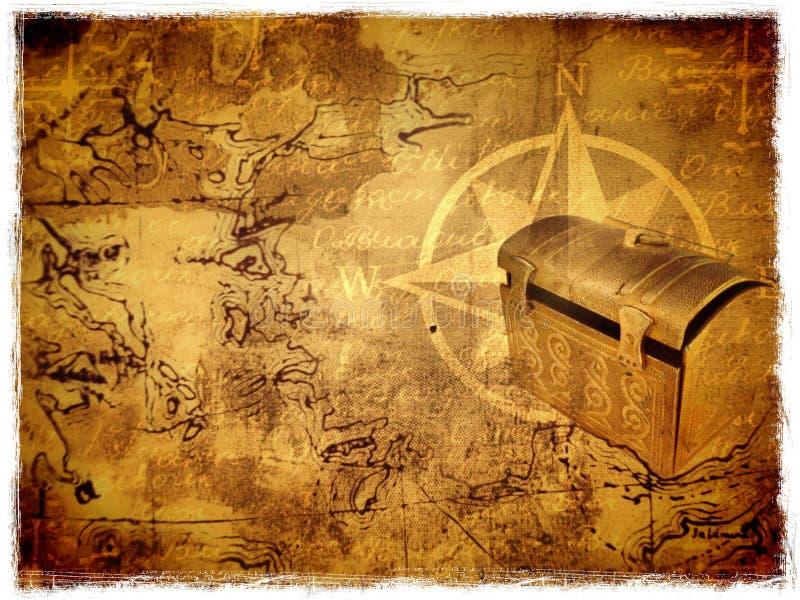 Carte antique de trésor illustration stock