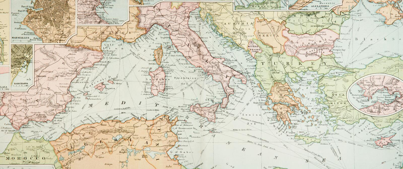 carte antique panoramique photo libre de droits