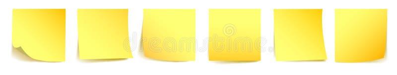 Carte appiccicose gialle stabilite - royalty illustrazione gratis