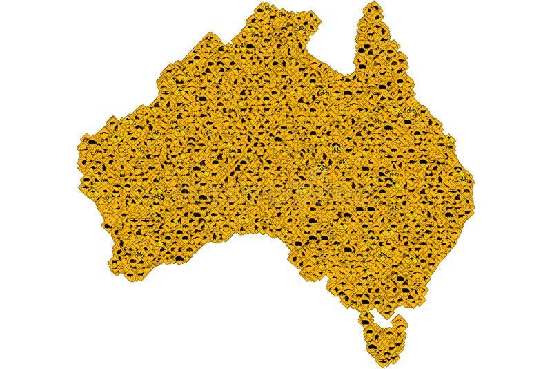 Carte australienne de signes illustration libre de droits
